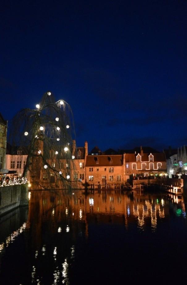 illuminated Bruges